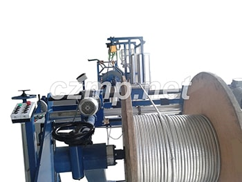 Line of steel strip armouring of cable for oil-submersible pump LBK 07